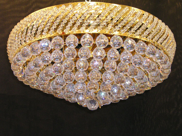 Crystal Flush Mount Chandelier
