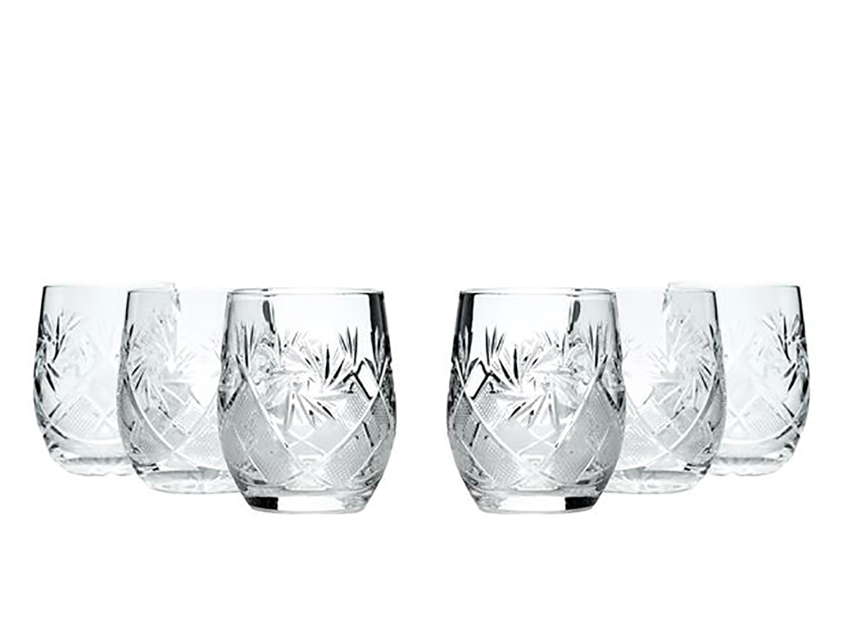 Crystal Neman Beverage Glasses 6.5 Oz Set of 6