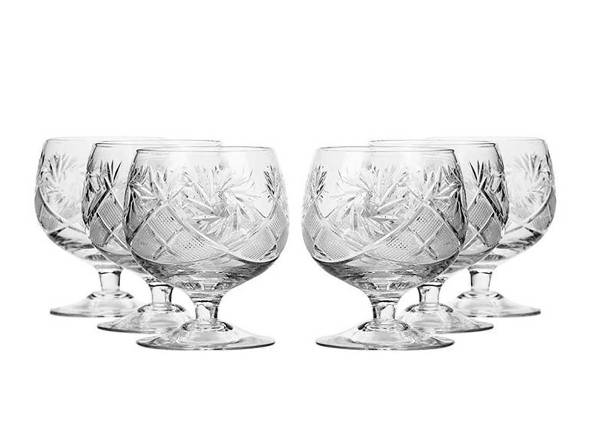 Crystal Neman Brandy Glasses 10 Oz Set of 6