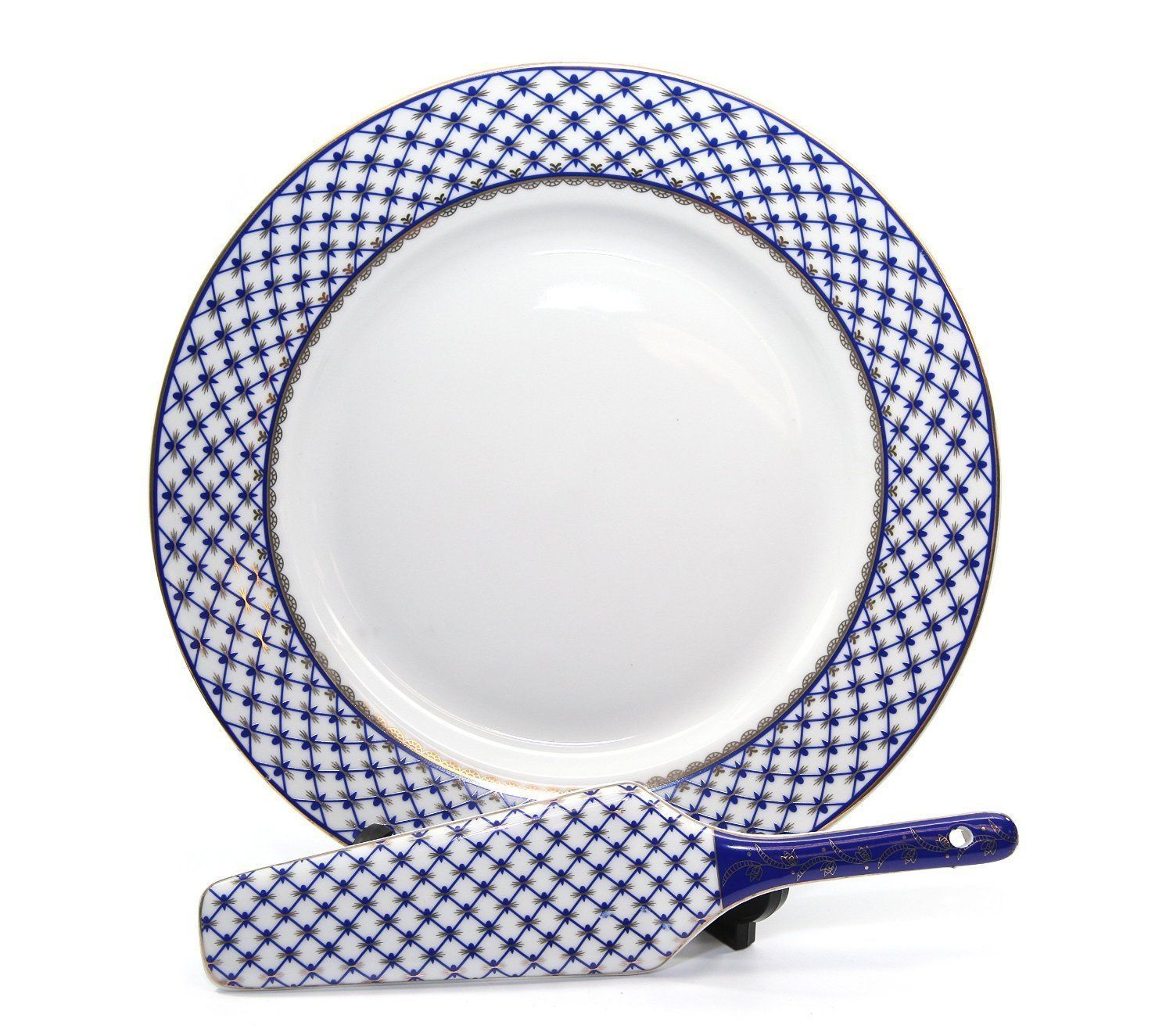 Cobalt Blue Net 2-pc Cake Set, Saint Petersburg