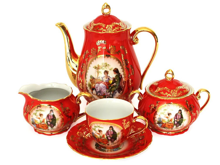 Madonna Original Red-Ruby Coffee Set