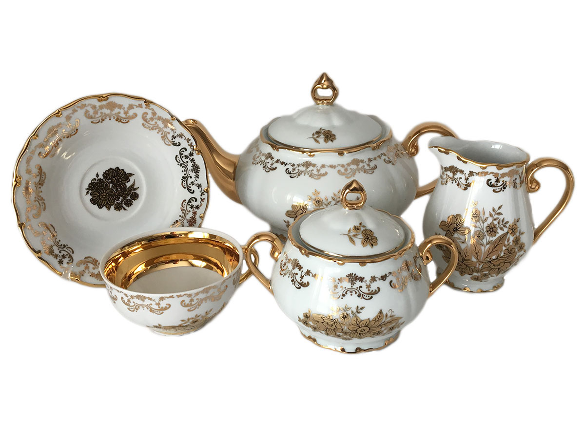 Golden Flower Tea Set