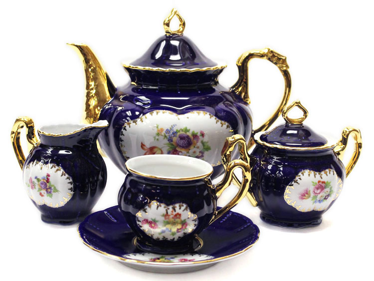 Cobalt Nancy Coffee Set