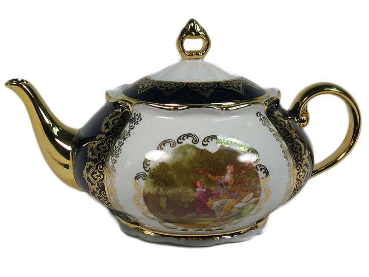 Madonna Cobalt Romeo & Juliet Tea Pot 1.3L